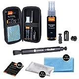 Rollei Kamera Reinigungsset Pro | Geschenk für Fotografen | Reinigungsset mit Lenspen, Mikrofasertücher, Feuchttücher & Flüssig-Reiniger