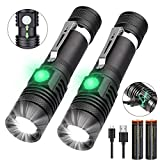 LED Torch, iToncs Torches Super Bright Powerful USB Rechargeable Torch Flashlight for Camping Hiking [2 Pack] ...