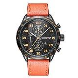 RAN-R Reloj de Cuarzo Resistente al Agua Reloj de Cuarzo Resistente al Agua Reloj Multifuncional de Tres o Tres Horas, 002