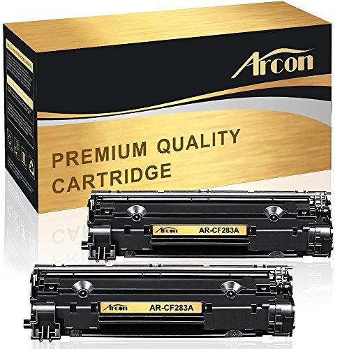 Arcon Kompatibel für HP 83A CF283A CF283X 83X Schwarz Laser Jet Tonerkartusche für HP Laserjet Pro MFP M125 M125NW M127FW M127FN MFP 125 M201 M201N M201DW M225DW M225DN Toner 2-Pack