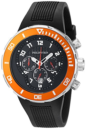 Philip Stein Men's 33-XOR-RB Active Extreme Analog Display Japanese Quartz Black Watch