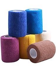 fuwok multifunción color Tejido vendaje adhesivo médico 5cm * 4,5(color al azar) (6unidades)