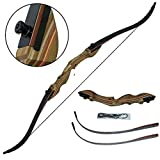 Best Archery Bows - toparchery Archery 50lbs Recurve Takedown Bow Wooden Riser Review