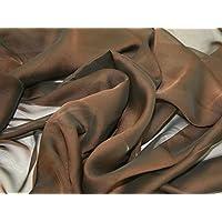 kationisch Chiffon Kleid Stoff braun – Meterware + Frei Minerva Crafts ... 8bf2e7ee4b
