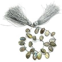 Prime vendita su Amazon Powered by gioiello perline per 1filo labradorite naturale 8x 8–11x 6mm pera sfaccettato perline lungo 20,3cm.