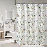 Resistente al moho anti-bacteriana cortina de ducha impermeable, ojal de cobre, cortina de ducha blanca, 100% poliéster ( Color : Blanco , Tamaño : 180*200cm )