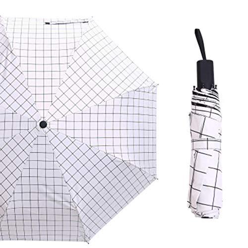 Paraguas tela escocesa Paraguas clásico blanco negro