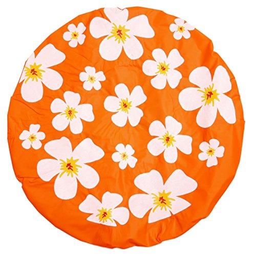 Gorra ducha pelo bolsa protectora flores forma de-diseño