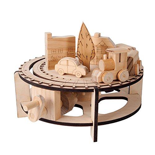 Chuffy Zug Timberkits Selbstorganisation aus Holz Modell bewegen Construction Kit