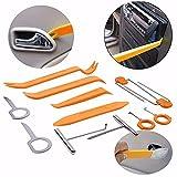 12pièces véhicule Tableau de bord Garniture Outil de voiture Panneau de porte Audio démonter retirer installer Pry kit/Ensemble de réparation outils