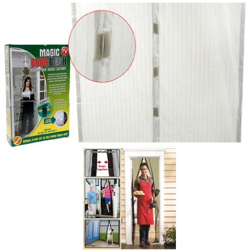 white-magnetic-insect-door-curtain-wasp-fly-bug-mosquito-net-mesh-door-screen
