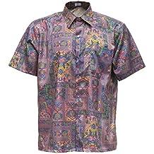 Camiseta para hombre de manga corta de seda tailandesa pájaro rosa, Rosa, ...