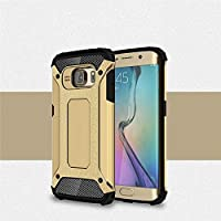 Galaxy S6 Edge Case, Rugged Tough Dual Layer Armor Case Samsung Galaxy S6 Edge Protective Case Shockproof Case Cover for Galaxy S6 Edge [Heavy Duty] [Slim Hard Case] BY AMPLE®
