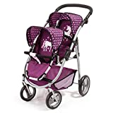 Bayer Design Silla Gemelos Twin Tandem Violeta, Color Pink, Purple (26537AA)
