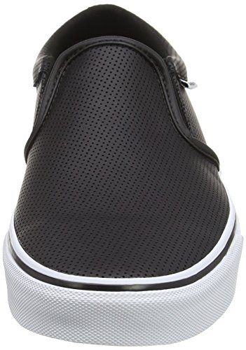 Vans Asher, Baskets Basses Homme Noir (Perf Leather Black/white)