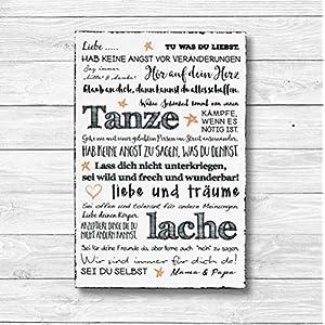 Für meine Tochter Individualisiert - Dekoschild Wandschild Holz Deko Wand Schild 20x30cm Holzdeko Holzbild Geschenk Mitbringsel Geburtstag
