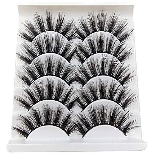 3D MINK gefälschte Wimpern Make-up handgefertigte falsche Wimpern schwarz Natur 27MM lang weich wiederverwendbar -