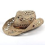 GR Moda Donna Uomo Western Cowboy Hat Roll-up Wide Brim Cowgirl Jazz