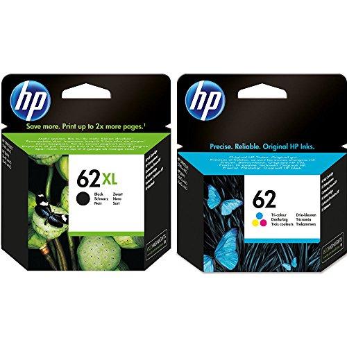 62XL Schwarz und HP 62 Farbe