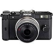 Pentax Q Systemkamera (12 Megapixel, 7,5 cm (3 Zoll) Display, Full HD Video, bildstabilisiert) Kit inkl. 47mm Objektiv schwarz