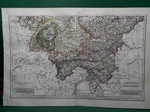 Südwestliche Deutsche Bundesstaaten - Südöstliche Deutsche Bundesstaaten - Gesamtkarte.