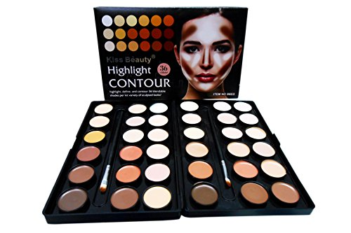 Kiss Beauty 36 Colors Highlighter Contour Concealer Palette 9603