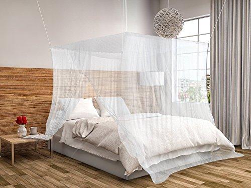 Moustiquaire de lit carrée 2m x 2m x 2m KillMoustik ✮ Travel Earth ✮ Grand format + Fixation et support inclus + 1 Porte intégrée + Pochette de transport Offerte ! La meilleure moustiquaire de lit pour se protéger efficacement des...