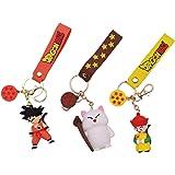 3 piezas Anime Dragon Ball llavero Goku figuras juguetes llaveros colgante Dragon Ball llavero PVC coche llavero anillo bolsa
