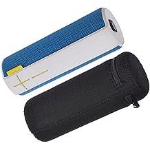 Case Wonder Fundas Caso para UE BOOM, Ligero y Slim Fit Estuche de viaje impermeabiliza Bolsa punzonado Lycra Protective Bolsa de Protección para Logitech Ultimate Ears UE BOOM 1 / 2 Altavoz Bluetooth Inalámbrica, negro