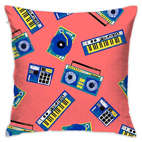 Boom Bap Hiphop Throw Pillow Cases Square Cushion Cover for Cars Sofa Bars Home Decorative 18x18 Pillowcase (Werfen Eines Baby-halloween-party)