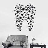 3D Stickers Muraux Autocollants Découpés Décoratifs 56X70Cm De Mur De Clinique Dentaire De Grand Modèle De Dent...