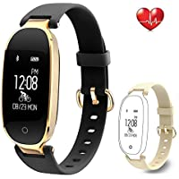 Fitness Tracker Heart Rate Monitor Bluetooth Activity Tracker Waterproof Smart Bracelet Health Sport Watch Wearable Pedometer Wristband With Calorie Counter Sleep Monitor Step Counter For Women Ladies Girls Kids Android IOS iPhone