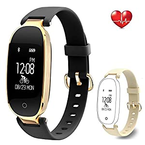51LR6KlfGcL. SS300  - Flenco Fitness Tracker Heart Rate Monitor Activity Tracker Waterproof Smart Bracelet Health Sport Watch Pedometer Wristband Calorie Step Counter Sleep Monitor For Women Ladies Girls Kids Android IOS