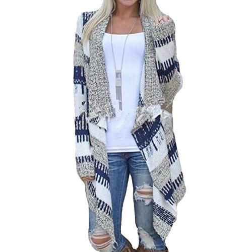 Daman Unregelmäßige Mode Kimono locker Bannfarbe Pullover Mit Langen Ärmeln Strickjacke Cardigan Outwear Mantel (M) (Satin Asiatischen Hut)