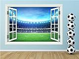Red Parrot Graphics Stade de Football garçons fenêtre Décoration Murale Autocollant complète d'impression de Couleur Transfert, Medium 57cm x 40cm £9.99...