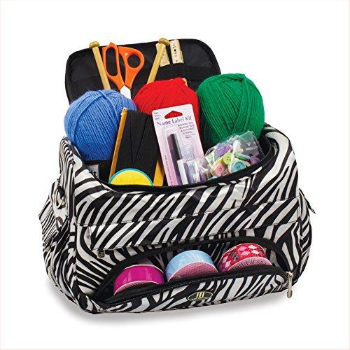 Stricken Tasche Nähen Zubehör und Craft Nadel Aufbewahrung Organizer Fall in Zebra