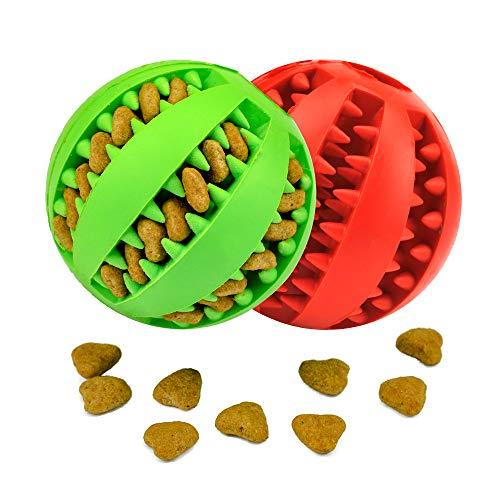 KLAS REMO Hundeball Hund Spielzeug Bälle Kauspielzeug Katze Snackball Naturgummi Ball große kleine Hunde Katze Leckerli für Zahnpflege Funktion Training Spielen