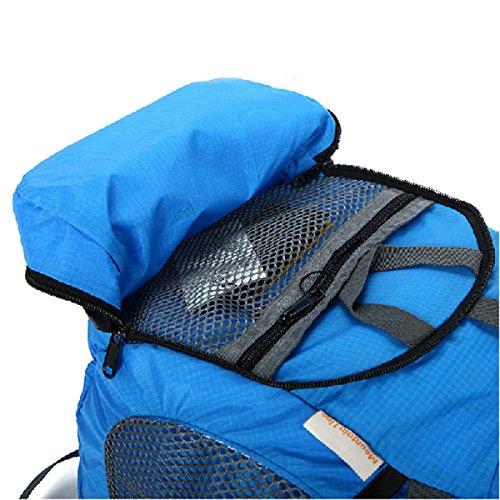 LQABW Ultra-light Can Be Haut Mountaineering Eintritt Gefaltete Außen Männer Und Frauen Modelle Wandern Rucksack Tasche Orange