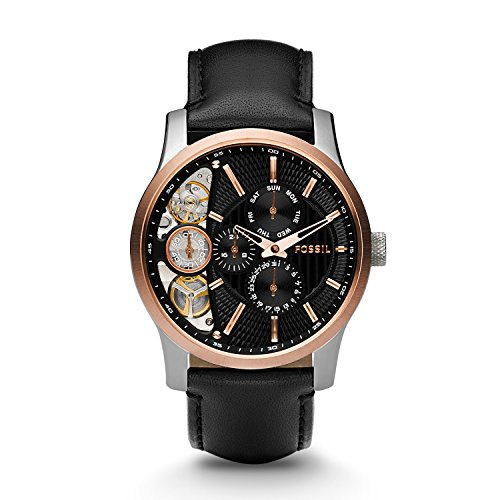 Fossil Herrenuhr Halbautomatik ME1099 Twist Rose Gold IP