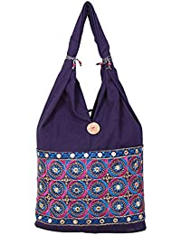 Womaniya Women's Shoulder Bag (Blue-Woman-856)