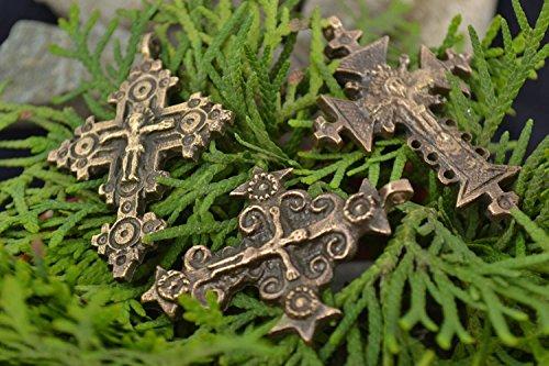 Bronze Kreuze Set 3 Stuck Handarbeit Technik vom kunstlerischen Gie?en