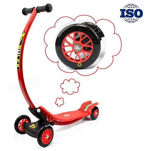 RISILAYS Athletisch Vierrad-Drift-Roller Scooter Dreirad mit verstellbarem Lenker Kinderroller, der sichere Premium faltbar belastbar Geeignet für Jugend Kind