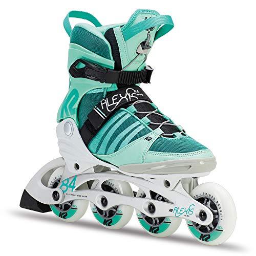 K2 Skates Damen ALEXIS 84 PRO Inline Skates, WeißGrünSchwarz, 38 EU