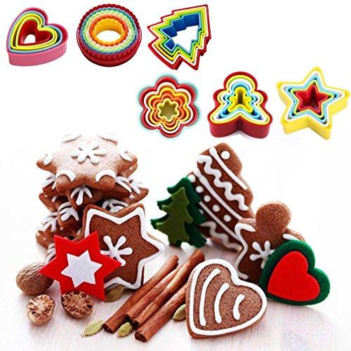Hemore Nicht-toxische Sicher Mold Food Grade ABS DIY Kuchen Fondant Cookie Baking Sehr praktisch Feiertage und Geburtstage Mittelstücke Ornament Saisonale Deko/Weihnachten