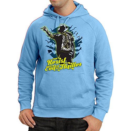 lepni.me Kapuzenpullover Vintage Band Kleidung, 80er Konzert Waren (Large Blau Mehrfarben)