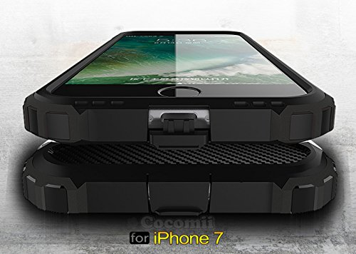 iPhone 8 / iPhone 7 Coque, Cocomii Commando Armor NEW [Heavy Duty] Premium Tactical Grip Dustproof Shockproof Hard Bumper Shell [Military Defender] Full Body Dual Layer Rugged Cover Case Étui Housse A Silver