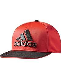 Adidas casquette flat fitted casquette à visière noir/rouge-taille unique-oSFW aB9159
