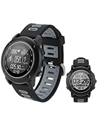 SinceY Montre Intelligente de Sport avec Boussole et GPS,Bluetooth 4.2 Smart Watch pour la Course À Pied, la Randonnée et Natation, IP68 Étanche Moniteur de Fréquence Cardiaque
