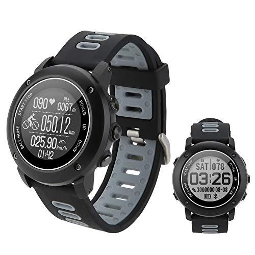 SinceY Orologio Intelligente di Sport con Bussola e GPS, Bluetooth 4.2Smart Watch per la Corsa A Piedi, Escursionismo e Nuoto, IP68Impermeabile Monitor di Frequenza Cardiaca