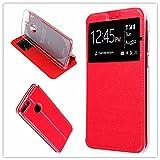 Misemiya–Huawei P Smart/Huawei Enjoy 7S Hülle–Nur, Cover Magnet Sport Halterung, Rot